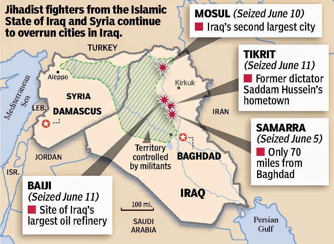 Estado Islamico Mapa Actual.El Estado Islamico Asesina A 500 Yazidies En Irak Not