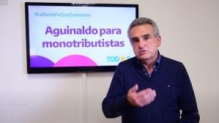 Rossi propuso proyecto de aguinaldo para monotributistas